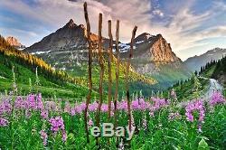 Tall Wooden Hiking Stick, Handcrafted Diamond Willow Long Wood Walking Staff USA