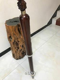 Unique old Wooden Walking Stick Cane Guitar, angel neck Handle, Mini Guitar design