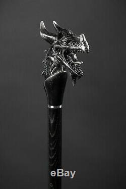 VIP Dragon Walking Stick for Men Wooden Hiking Cane for Gift Handmade