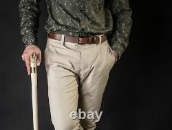 VIP Snake Walking Stick for Men, Wooden Cane for Gift, Hand Carved Personalized