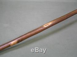 Vintage Walnut Old Folk Art Wooden Walking Stick Cane 37