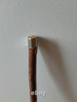 Vintage Wooden Walking Stick Antler Horn Handle