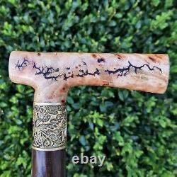 Walking Cane Walking Stick Handmade Wooden Cane Exclusive and Unique Design X14