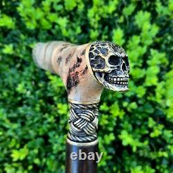 Walking Cane Walking Stick Handmade Wooden Cane Stabilized in Cactus Juice Y70