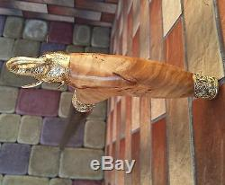 Walking Stick Elephant Cane Wooden BURL Handmade Men's Accessories Cane