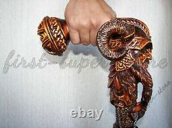 Walking Stick Viking Hand Crafted Wooden Cane Original Handmade Unique