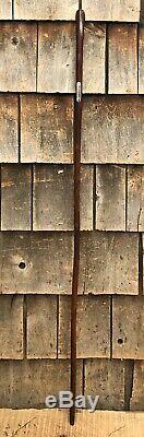 Wonderful Antique Original Wooden Walking Stick Cane Named
