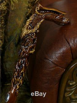 Wooden Dragon Walking cane stick Hand Carved Crafted Mystic Fantasy men women