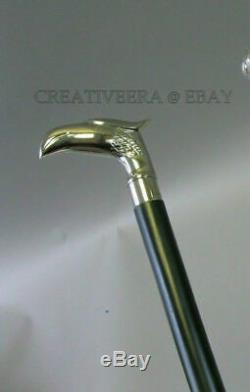 Wooden walking sticks silver Animal head handle walking stick set 4 Style Gift