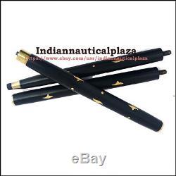 5 Pièces Bâton En Bois, 3 Fold Brass Vintage Wood Marche De Canne Pour Customize Sticks