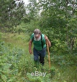 54 ' ' Crooked Assistant Bois Marche Personnel, Kinky Shaman Stave Rustique Bâton De Randonnée