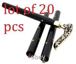 Antique Designer Brass Handle Antique Style Victorian Cane Wooden Walking Stick