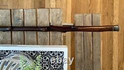 Antique Irish Blackthorn Canne Bâton De Marche 1848 Shillelagh Bois 36