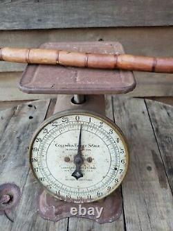 Antique Japan Bamboo Cane Vintage Bâton De Marche En Bois 36 Avec Pointe En Métal
