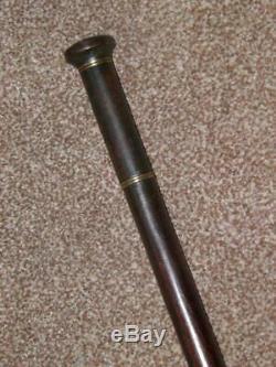 Antique Légère Marche Tippling Gadget En Bois Bâton / Canne 86cm