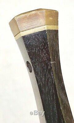 Antique Vintage 1800 Art Déco Poignée En Bois Corne Swagger Bâton De Marche De Canne Vieux