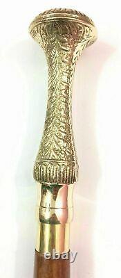 Bâton Antique De Pliage De Bâton De Bâton De Marche De Bâton De Marche De Laiton Nautique Antique