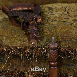 Bâton De Canne Aigle En Bois De Canne Sculpté, Bâton De Randonnée, Fabriqué À La Main En Bois