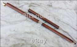 Bâton De Canne En Bois Massif Style Ancre En Laiton Style Vintage
