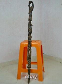 Bâton De Marche De Chef Tribal Africain Fait Main Main Art Antique De Canne En Bois