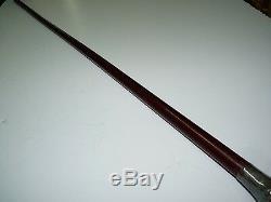 Bâton De Marche En Bois Antique, Poignée En Argent, Marque Minerve Et M & F, L 95,5 CM