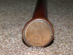 Bâton De Marche En Bois Antique/canne Avec Un Dessus De Pièce De Monnaie En Cuivre 1891 De Cuivre D'un Penny