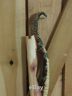 Bâton De Marche En Bois / Main De Canne Sculptée
