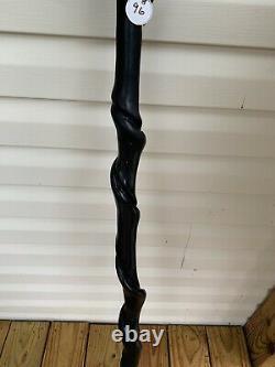 Bâton De Marche Torsadé En Bois 50 1/2 Pouces Long