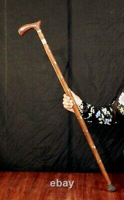 Bâton De Marche Victorien Avec Une Canne En Bois Unisexe Cachée À L'intérieur