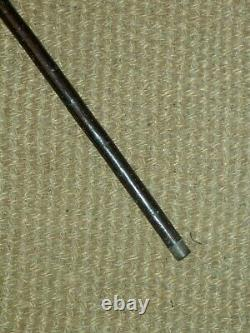 Bâton Vintage Rustique Marche En Bois Avec Tresse Argent Collier Fil 91cm