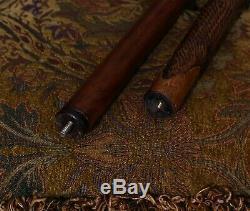 Bois Marche Personnel Randonnée Bâton Boule Bouton Style Totem Poignée Owl Crâne Sculpté