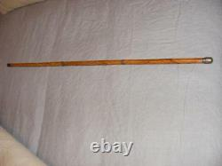 Bookmaker Wooden Walking Stick Cane 33.5 Racecourse Writers Concealed Pen Pencil