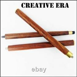Brass Head Designer Handle Wooden Vintage Walking Cane Stick Ensemble De 9 Pcs Cadeau