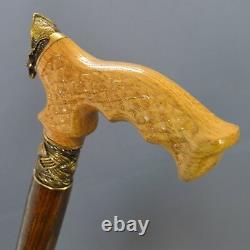 Bronze Captain Cane Handmade Walking Stick Wooden Unique Hommes Accessoires Chêne