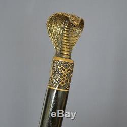 Bronze Cobra Main Canne Bâton De Cadeau Unique Pour Hommes En Bois Accessoires 35