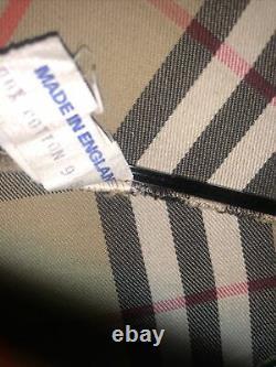 Burberry Vintage Check Nova Logo Poignée En Bois Walking Stick Umbrella Rrp £530