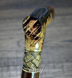 Burl Canes Bâtons De Marche Bois Anches Bronze En Bois À La Main Bâton À La Main Des Hommes # 16