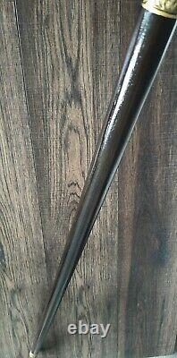 Burl Hybride Cannes Walking Sticks Canne Bois De Bois Stick Handmade Bronze N60