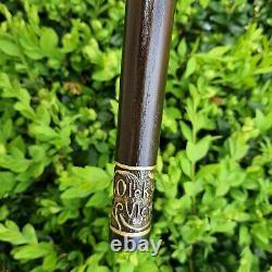 Cane De Marche Bâton De Marche En Bois Fait Main Design Exclusif Et Unique X90