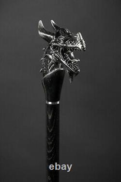 Cane De Marche Dragon Pour Les Hommes Design Mode Bâton De Marche En Bois