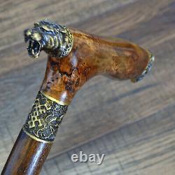 Canes De Marche Bâtons De Marche Bois Bronze Stabilisé Bois Burl Handmade Tigre