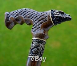Canes Reed Oak Arbre Marche En Bois À La Main Canne Bâton Accessoires Unique Dragon