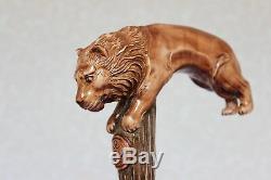 Canne Cannes Canne En Bois Fait Main Manche Sculpté À La Main
