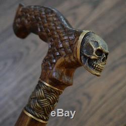 Canne Crâne Canne En Bronze Crâne En Bois Cannes En Bois Fabriqués À La Main