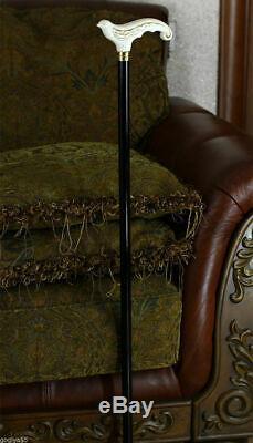 Canne En Bois Blanc Pour Femmes Dames Sculpté Main Oiseau Hirondelle