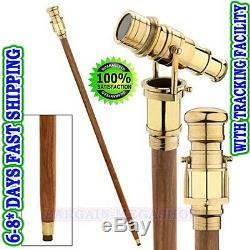 Canne Marche Bâton Télescope Pliant Bâton Marche En Bois