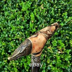 Canne Walking Stick Handmade Wooden Walking Cane Hybrid Acrylique Burl Handle Z62