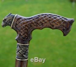 Cannes Reed Oak Arbre Canne À La Main En Bois Bâton Accessoires Unique Falcon