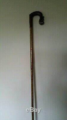 Crook Walking Bâton De Berger En Bois Écossais