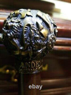 Dewar Highlander Knobbed Style Victorian Bâton De Marche En Bois/cane